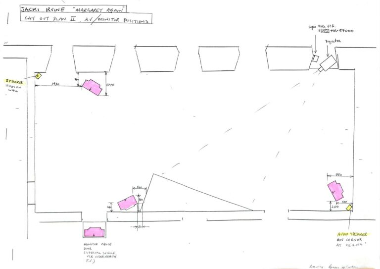 Installation drawing for Margaret Again, IMMA Archive
