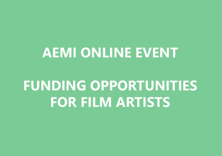 16th April day-long information clinic looking at funding opportunities & approaches to funding for film artists